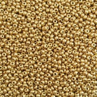 Бисер золотистый 01710 (по каталогу Preciosa) 11.0. Упак 50г