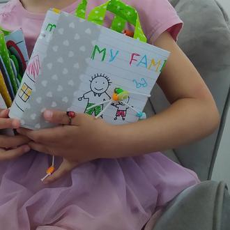 Развивающая книжка | минибук | книжка из фетра | развивающая игрушка