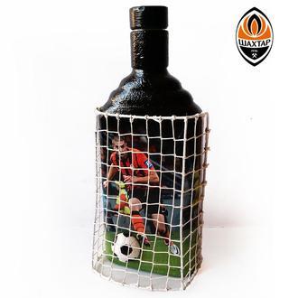 Декор бутылки Футбольному фанату Шахтар чемпион Подарок мужчине любителю футбола