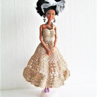 Золотое платье для Барби