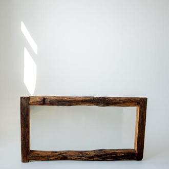 Дзеркало з дерева ручної роботи, прямокутне дзеркало, дерев'яне дзеркало, дзеркало з дошок
