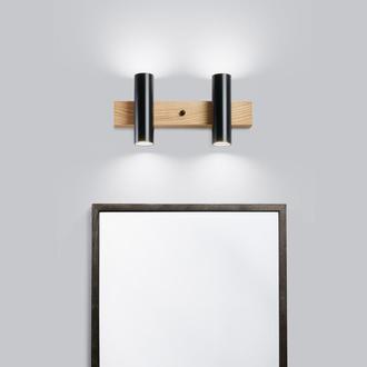 Светильник для ванной черный. Освещение для зеркала