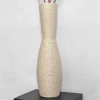Белая напольная ваза высокая 80см