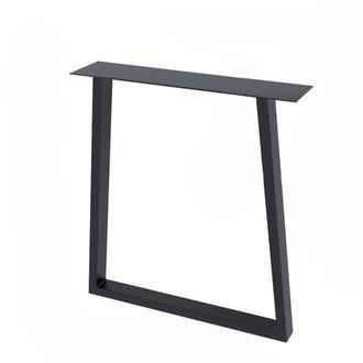 Опора для стола  Loft Design Титан усиленная толщина металла 2мм Черный (1006LP)