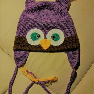 Шапочка-сова детская