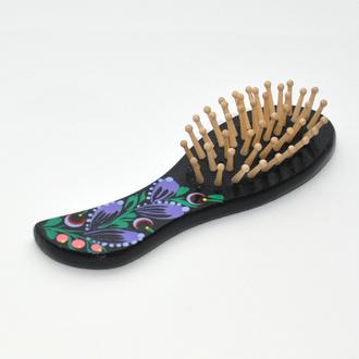 Расческа массажная для волос Травка