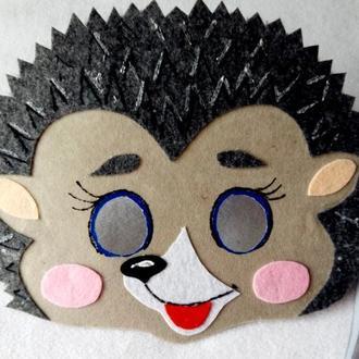 Карнавальная маска для детей ежик