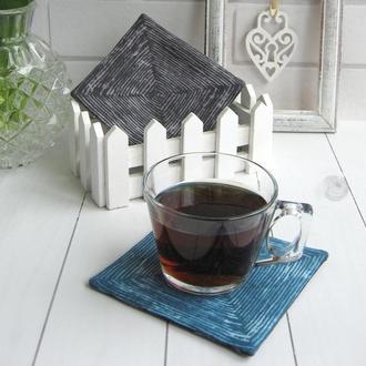 Водовідштовхувальні костери, набір підставок під чашку (2шт)