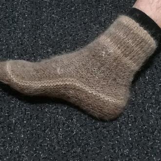 Носки из собачьей шерсти 41-42 натуральная шерсть зимние тёплые