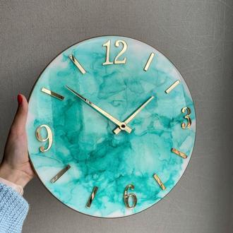 Настенные часы с эпоксидной смолой