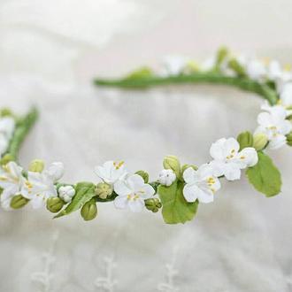 Ободок с цветами Венок с цветами Венок для фотосессий