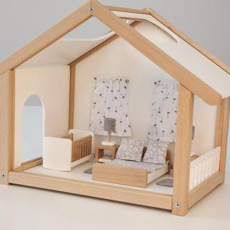 Меблі для лялькового будиночка спальня біла