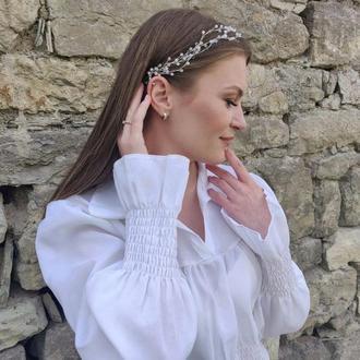 Нежное украшение в прическу невесты