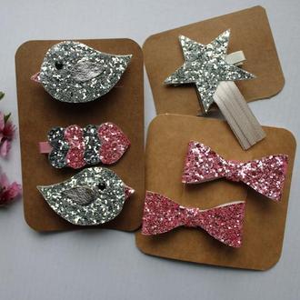 Резинки та заколки для дівчинки на подарунок, набір аксесуарів на день народження