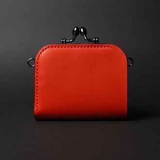 Шкіряний гаманець з фермуаром