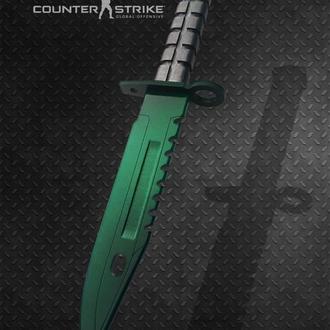 Нож деревянный КС ГО М9 Штык-нож Гамма-волны Изумруд CS GO M9 Bayonet Gamma Doppler Emerald
