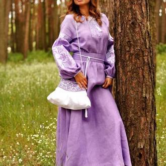 Женское вышитое платье П34/1-251