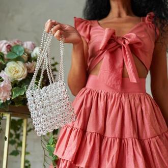 Сумка, pearl bag, прозрачная сумка, beaded bag, аксессуар,