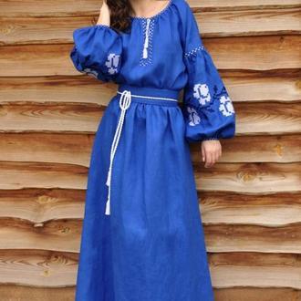Женское платье-вышиванка П24-291
