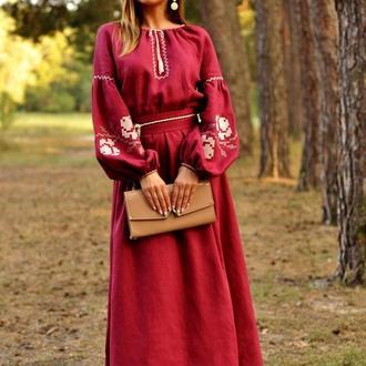 Женское платье в украинском стиле П24-266