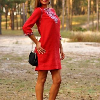 Женское вышитое платье П07/12-261
