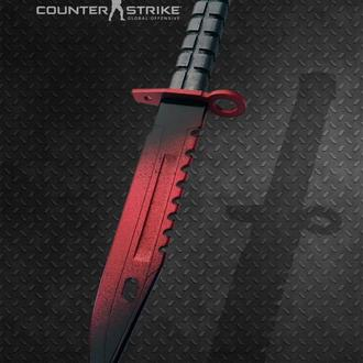 Нож деревянный КС ГО М9 Штык-нож Волны Рубин CS GO M9 Bayonet Doppler Ruby