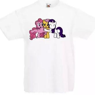 Детская футболка с принтом персонажи мультсериала Дружба – это Чудо Push IT