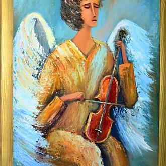 Ангел із скрипкою, картина, розмір 40х50см