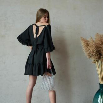 Женская сумка, аксессуар, плетённая сумка, сумка из бусин, платье
