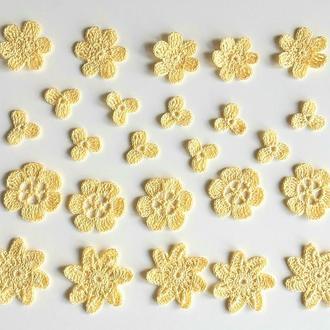 Апплиции лимонного цвета для декора или творчества