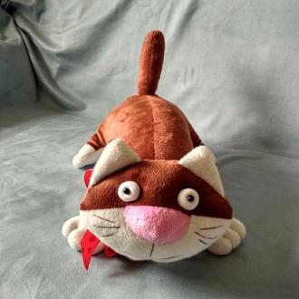 Кот с яйцами, игрушка кот, подарок любимому, коричневый кот, кот с бантом