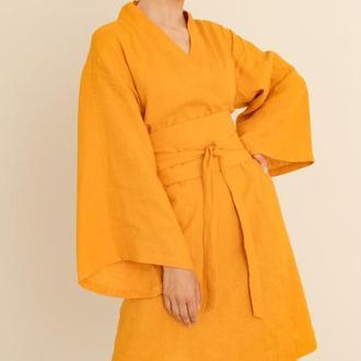 Женское кимоно из льна