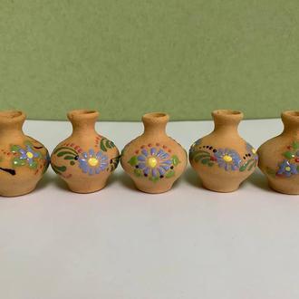 Вазы глиняные набор, Вазы из глины, Вазы расписные