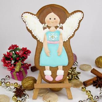 Пряник фея Ангел. Расписные медово-имбирные пряники