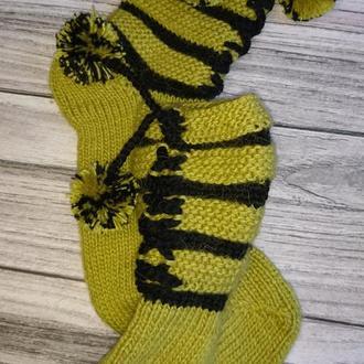 Вязаные носки для дома Красивые подарочные носки