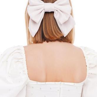 Большой белый Luxury бант - украшение для волос от MyScarf