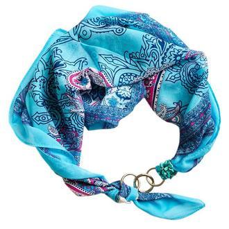 """Шифоновый платок """"Голубая дымка"""" , шарф-колье, шарф-чокер, шейный платок"""