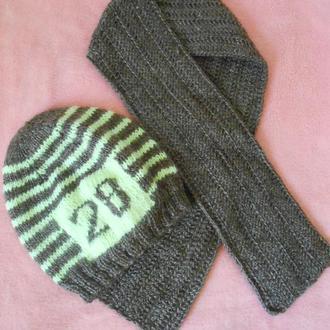 Шапочка и шарф детские .Одежда для фотосессий .