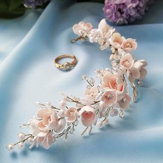 Весільна гілочка для волосся «Найніжніша наречена».