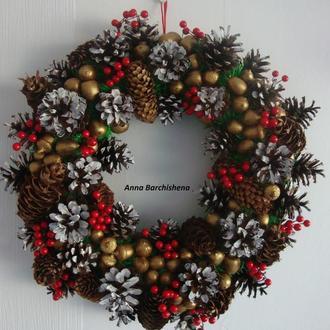 Новогодний, Рождественский ВЕНОК *Бесплатная Доставка