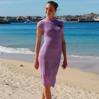 Платье ручной работы крючком