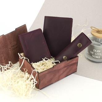 Женский подарочный набор в коробке Handycover №46 бордовый
