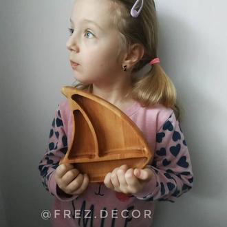 Детская тарелка Лодочка