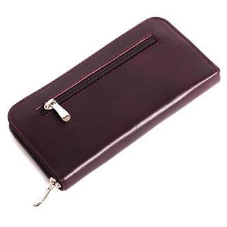 Женский кожаный кошелек на молнии LIKA (бордо)