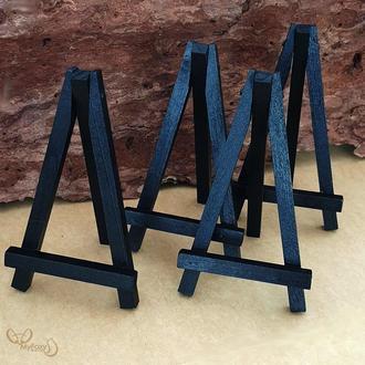 Мини-мольберт подставка 13*7,5 черный покрыт акриловым лаком