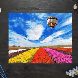 """Картина по номерам """"Полет над тюльпанным полем"""", 50х40 см"""