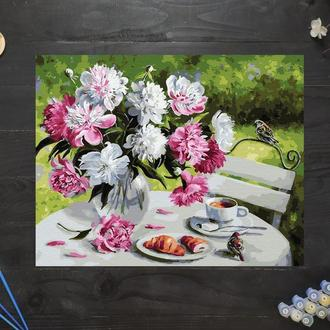 "Картина по номерам ""Завтрак с пионами"", 50х40 см"