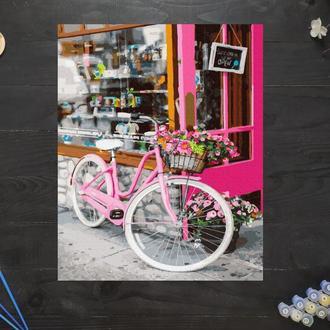 "Картина по номерам ""Велосипед на улице Парижа"", 50х40 см"