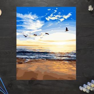 """Картина по номерам """"Утренний пляж"""", 40х50 см"""