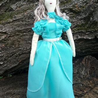 """Кукла """"В бирюзовом"""" в стиле тильда, текстильная, интерьерная"""